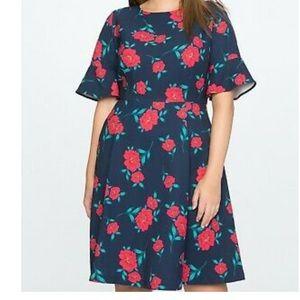 Eloquii Draper James floral print dress NEW